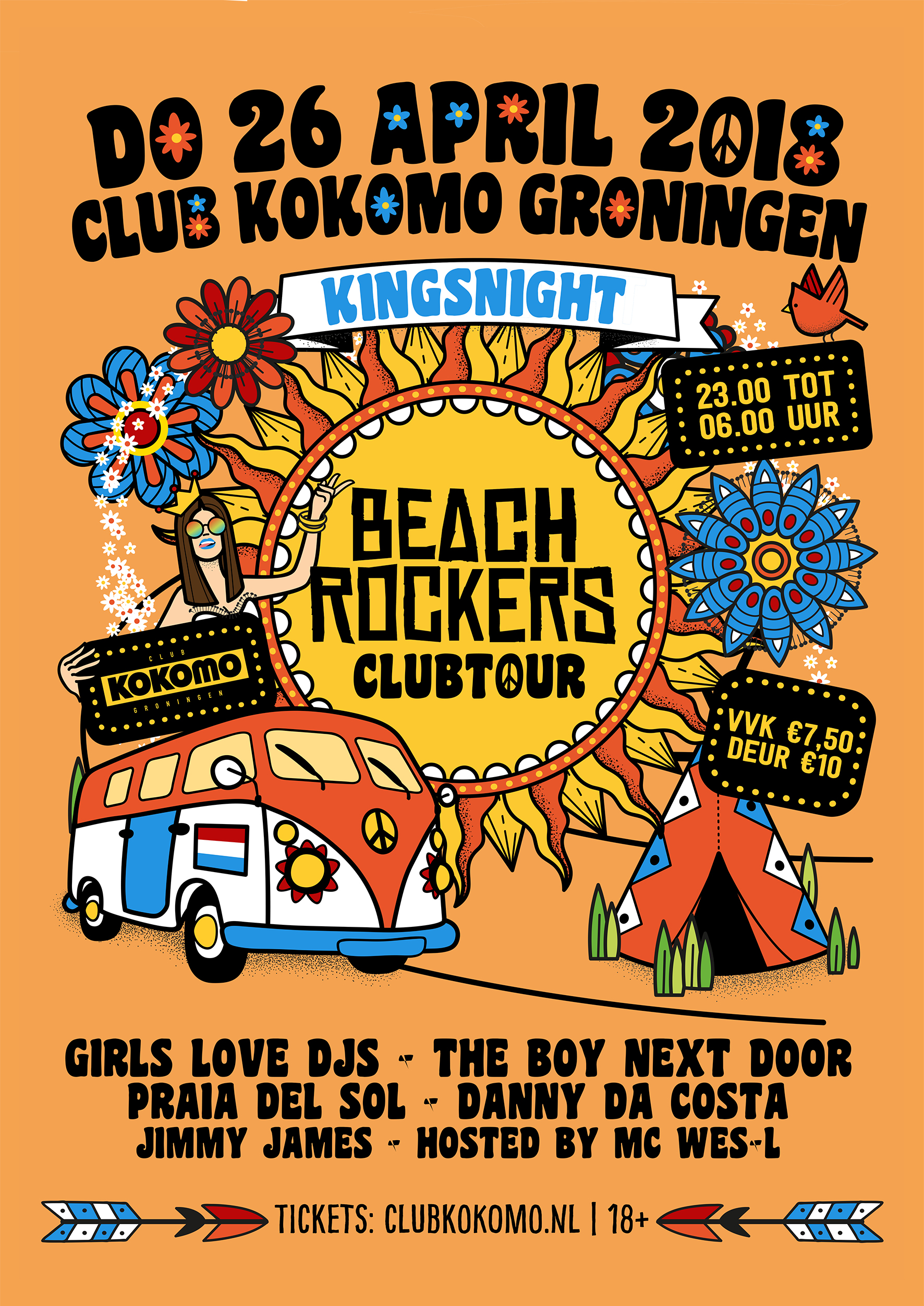 Beachrockers Clubtour X Kingsnight